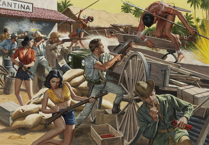 Men's Adventure Mort Kunstler